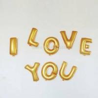 Balon Foil Huruf I Love You/ Set by Esslshop