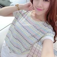 kaos wanita pastel snsd korea kpop halus zara topman h&m mango pakaian