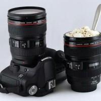 Gelas Mug Lensa Kamera Canon Stainless / Camera Cup Lens | Barang Unik