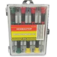 Obeng Kecil Set Isi 7 untuk Jam Kalkulator Handphone Merk Kenmaster