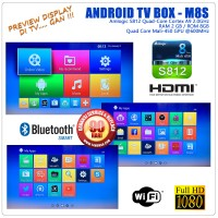 Smart TV, Android TV Box M8S Original, Murah, Garansi