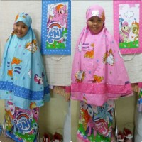 Mukena Anak-Anak My Little Pony (Size XL)