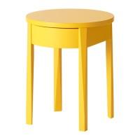 IKEA STOCKHOLM Meja Samping Tempat Tidur, Desain Unik, Kuning