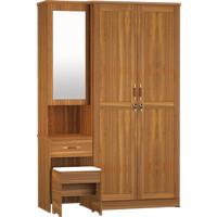 Lemari Pakaian 2 Pintu + Meja Rias LPMR 8223