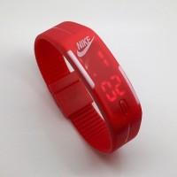 Jam Tangan Digital LED JamTangan Karet Rubber Nike Adidas Puma Gelang