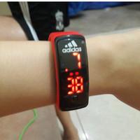 Jam Tangan Digital LCD LED Gelang JamTangan Nike Adidas Puma Stylish