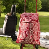 IKEA KNALLA Shopping bag with wheels, Tas Belanja dg Roda, Merah Putih