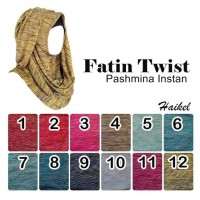 Hijab   Jilbab   Bergo   Pashmina Instan Fatin Twist By Haikel