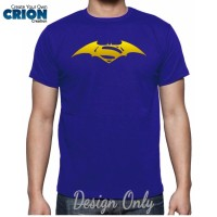 harga Kaos Batman V Superman - Batman Superman Logo Gold - By Crion Tokopedia.com