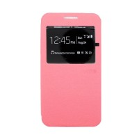 Ume Flipshell Case VIVO Y15 View Flip Cover - Pink