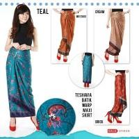 Rok bawahan panjang maxi span skirt lilit kebaya wanita batik Teshavia