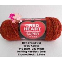 Benang Rajut Red Heart Super Tweed - Fire