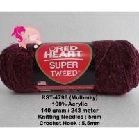 Benang Rajut Red Heart Super Tweed - Mulberry