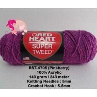 Benang Rajut Red Heart Super Tweed - Pinkberry