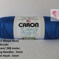 Benang Rajut Caron Simply Soft - Royal Blue (CSS 17)