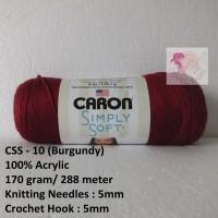 Benang Rajut Caron Simply Soft - Burgundy (CSS 10)