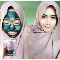 Masker Ajaib Penghilang Jerawat Masker Pemutih Wajah Spirulina