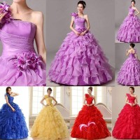 Gaun Pengantin Import pesta bridesmaid prewedding organza organdi