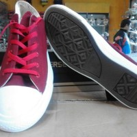 Sepatu converse all star mono merah maroon grade ori import vietnam