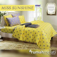 Sprei Star Miss Sunshine Ukuran Double no 1 dan 2