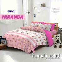 Sprei Star Miranda Pink Ukuran Double no 1 dan 2