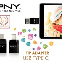 USB Type C On The Go (OTG) Tip Adapter PNY UCA01