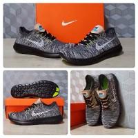 Sepatu Running Nike Free Run Flyknit 5.0 Oreo Black White