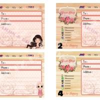 Sticker Pengiriman Toko Online Tema Karakter