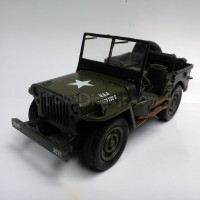 Jeep Willys Hijau (Diecast Miniatur Mobil 1/32 Newray)