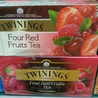 Twinings Four Red Fruits Tea Sweet & Indulgent /Minuman Teh Kantong