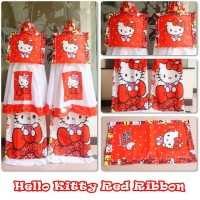 mukena anak karakter HELLO KITTY RED RIBBON XS