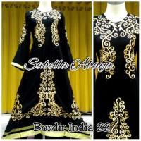Abaya gamis bordir india 22