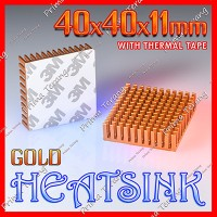 Heatsink 40x40x11mm Gold Radiator Peltier TEC1-12706 40x40x11 mm