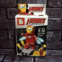 Lego Iron Man Mark 33 Silver Centurion Marvel Avenger Bootleg