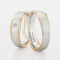 cincin couple perak 925 lapus emas sepasang CP-141