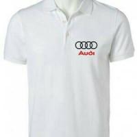 polo shirt/kaos kerah/baju AUDI white