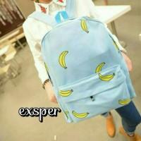 Tas Ransel Backpack Banana Pisang Punggu School Sekolah