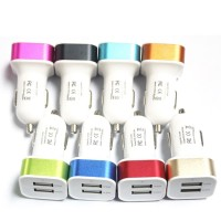 Charger Mobil Dual USB Car Charger with LED Display