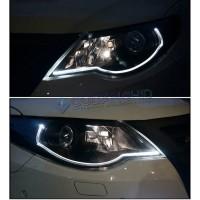 LED DRL Flexible 60CM Lampu Alis Mobil 2 Warna 2 Mode Fitur Sein Sen
