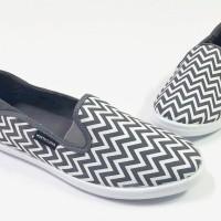 North Star 1219 - Sepatu Flat Wanita Canvas Casual - Abu Putih