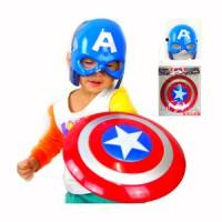 Tameng dan Topeng Nyala Captain America Mask and Shield Avengers