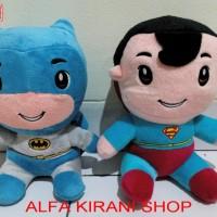 boneka BATMAN & SUPERMAN (the dark knight & man of steel / superboy)