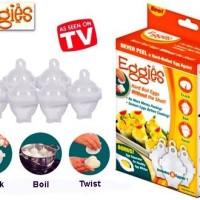 Eggies / Alat Pencetak Telur Rebus As Seen On Tv / Pemecah Telur