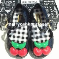 harga Sepatu Jelly Anak Bayi Casual Mini Melissa Cherry Replika Black Tokopedia.com