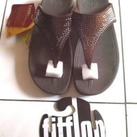 Sendal Sandal Jelly Shoes Fitflop Bling Wanita Sponge Ringan Murah