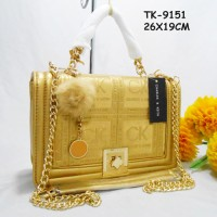 Tas Charles Keith CK Import KW Super AN-9151 Gold