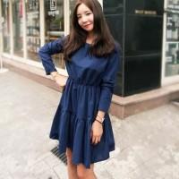 harga Dress Blue Waves - Baju import Wanita - Dress Lengan Panjang Tokopedia.com