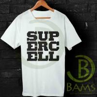 Kaos Cowok / Cewek - T Shirt - Kaos Supercell Game Logo -AJ