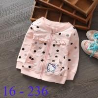harga Jual Jacket/Jaket Anak/Bayi/Kid Cewe/Perempuan Cute Pink Hello Kitty Tokopedia.com