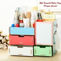 Rak Kosmetik Cermin / Rak Organizer Kosmetik Desktop Storage - RAH242